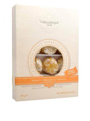 amaretti mit orange weiche mandelkekse mit orange von fabbrica del panforte in siena in der toskana 250 gr gramm schachtel