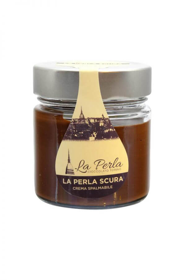 dunkle gianduja schokoladecreme von la perla di torino aus turin im piemont
