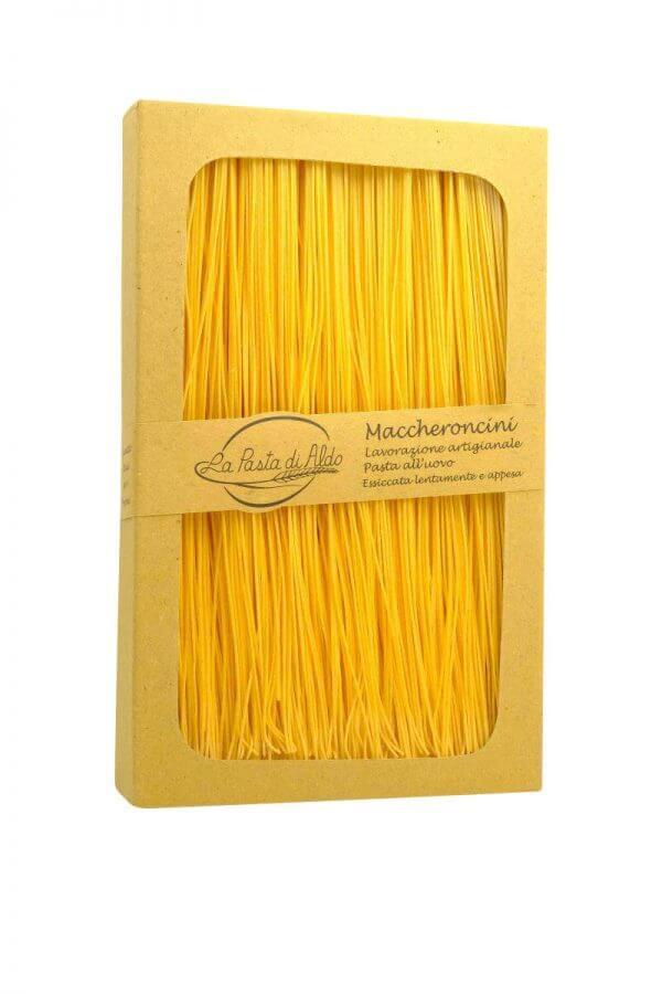 maccheroncini feine bandnudeln mit ei von pasta di aldo pastamanufakrur aus den marken
