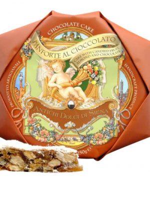 panforte di siena suesse spezialitaet aus der toskana mit honig, mandeln und gewuerzen 250 gramm