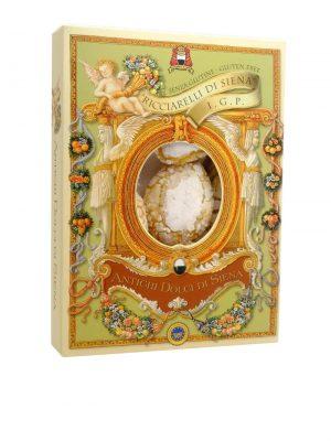 ricciarelli weiche mandelkekse von fabbrica del panforte aus siena in der toskana 250 gramm schachtel