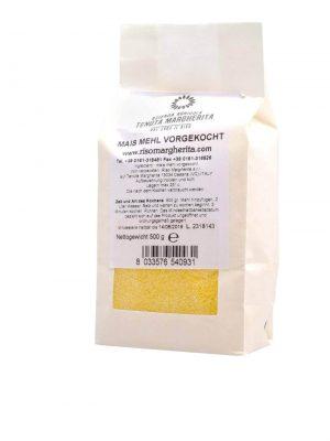 polenta maismehl vorgekocht von der tenuta margherita in 500 gramm verpackung