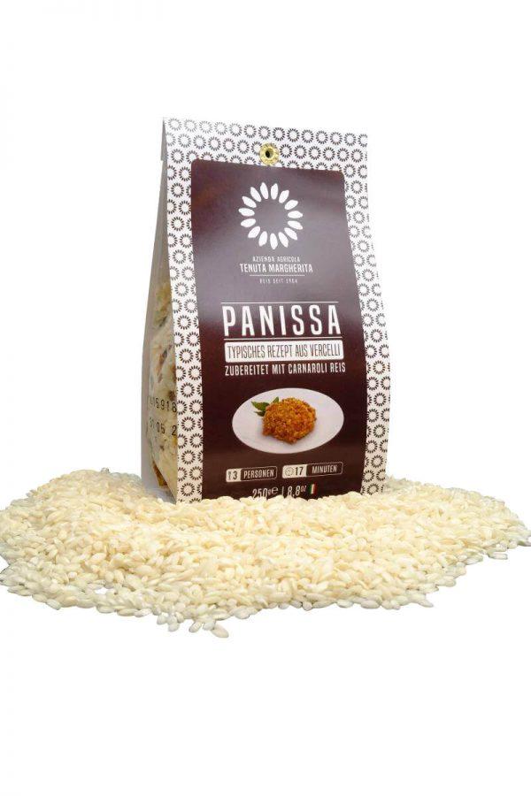 risotto panissa typisches reisgericht aus vercelli im piemont mit bohnen und salsiccia fertig zubereitung