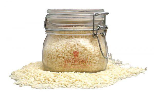 risottoreis carnaroli im 450 gramm glas riso buono von tenuta cavalchini