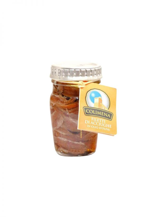 sardellenfilets in olivenoel von colimena 80 gramm glas