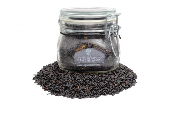 schwarzer vollkornreis artemide im praktischen glas