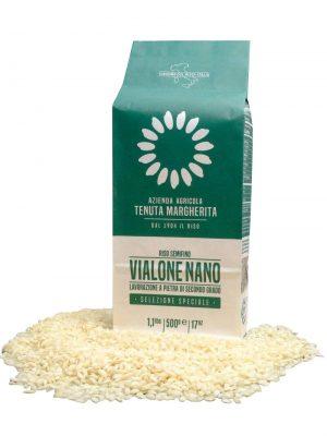 vialone nano risottoreis von tenuta margherita in 500 gramm verpackung