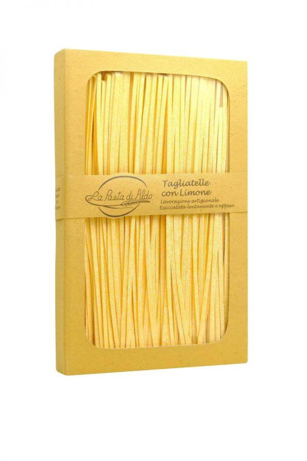 bandnudeln mit ei und zitrone von pasta di aldo pastamanufaktur aus den marken