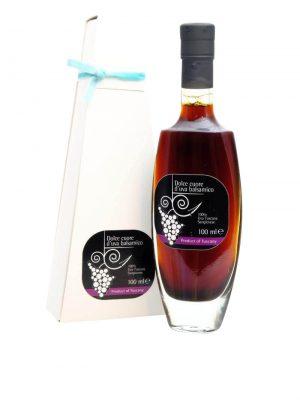 balsamico essig aus der toskana arezzo aus sangiovese trauben mit schachtel 100 ml
