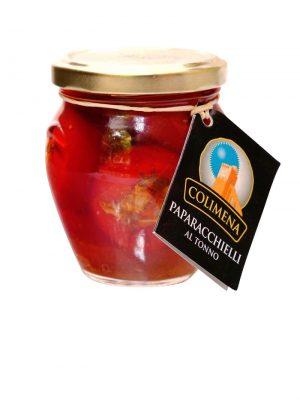 paparacchielle mit thunfisch gefuellte runde peperoncini von firma colimena