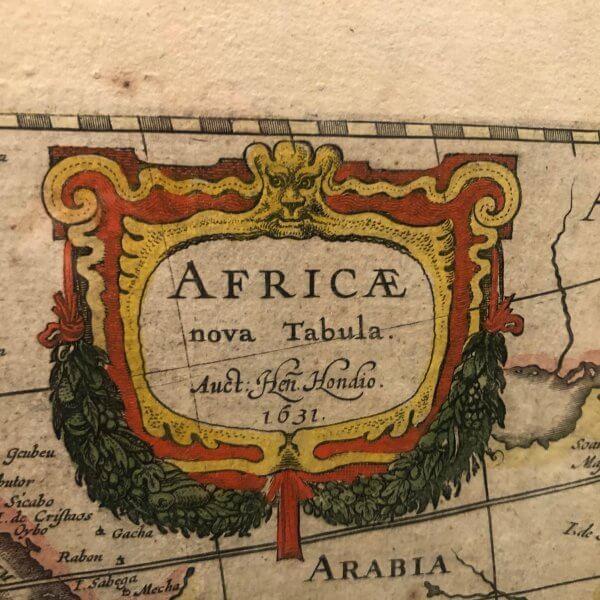 kartusche landkarte africa nova