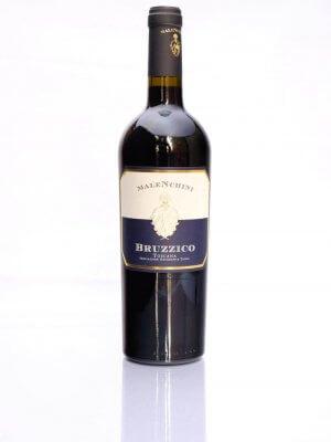 flasche mit rotwein bruzzico rosso toskano von malenchini