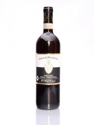 flasche mit chianti colli fiorentini malenchini