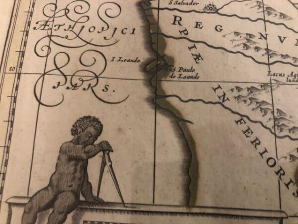 details antike landkarte aethiopien jansonnius