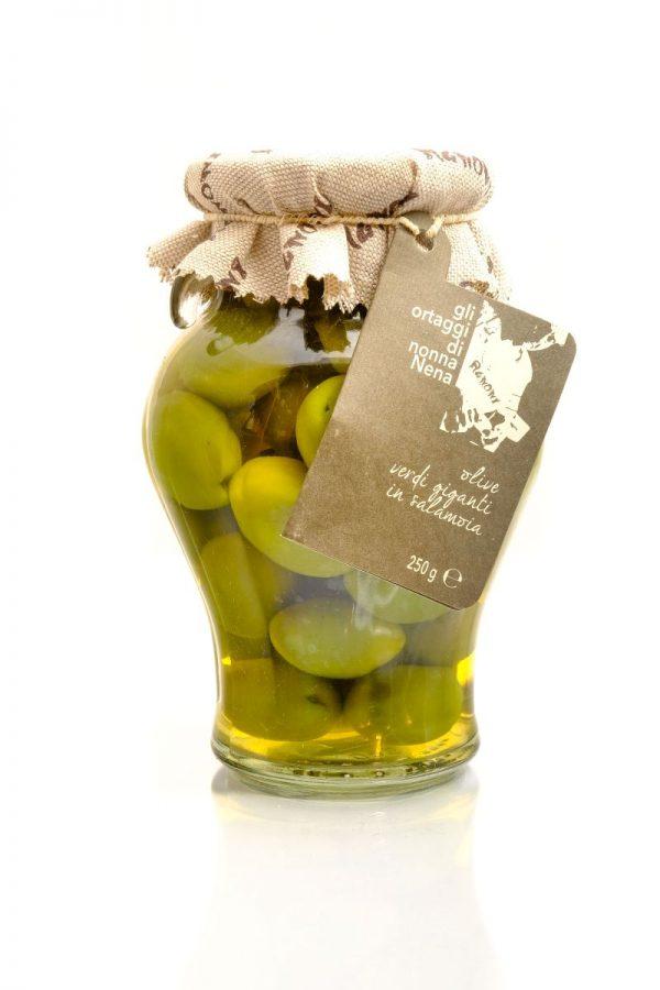 grüne oliven in salzlake vom familienbetrieb agnoni im latium 580 ml