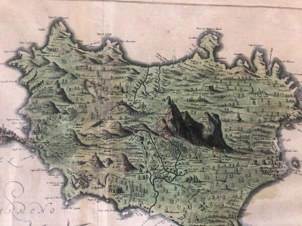 antike landkarte ischia Blaeu 1662
