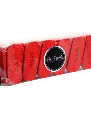 Fluido Haselnuss-Schokoladekonfekt in transparenter Geschenkschachtel glutenfrei
