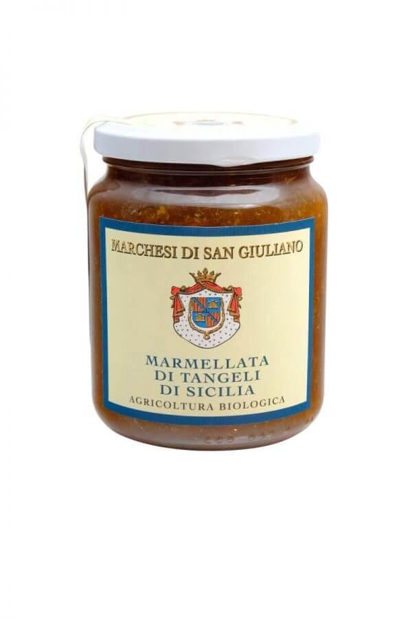 Tangelimarmelade Kreuzung zwischen Mandarine und Grapefruit aus Sizilien von Marchesi di San Giuliano