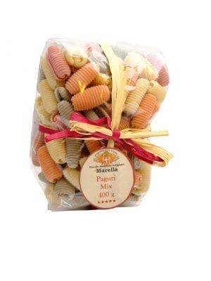 paguri kurze nudeln mit gemüse gefärbt von marella aus apulien