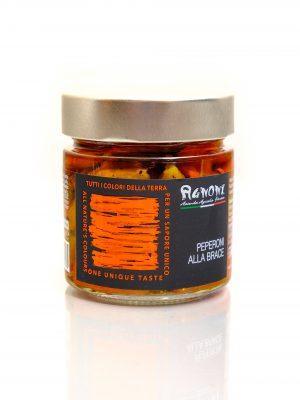 gegrillte Paprika in Olivenöl vom Familienbetrieb Agnoni im Latium