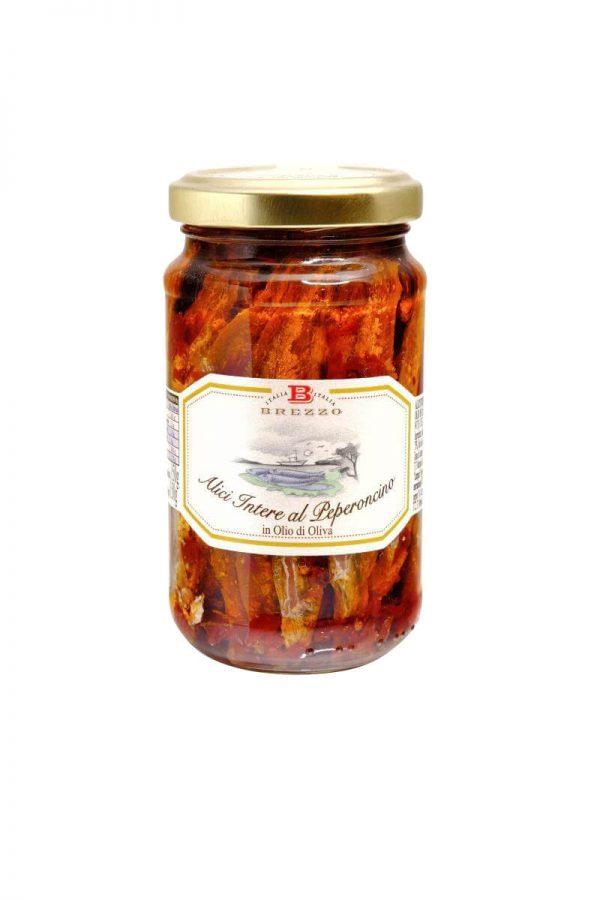sardellenfilet mit peperoncino brezzo scharf