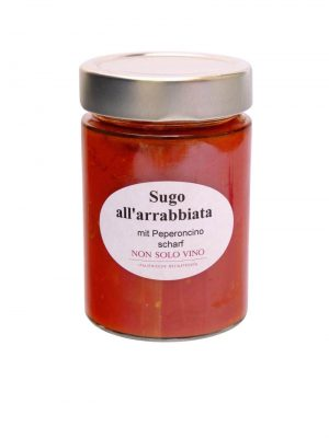 sugo all arrabbiata tomatensugo mit peperoncino scharf hausgemacht von non solo vino