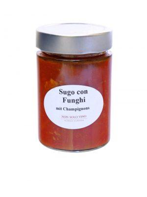 sugo con funghi tomatensugo mit champignons hausgemacht von non solo vino