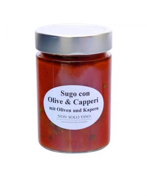tomatensugo mit oliven und kapern hausgemacht von non solo vino